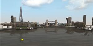 HR Wallingford has created a River Thames navigation simulation to assess Tideway's fleet of vessel masters (Photo: HR Wallingford)